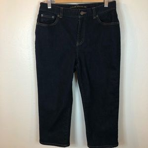 Lauren Ralph Lauren sz 6 jeans cropped dark wash